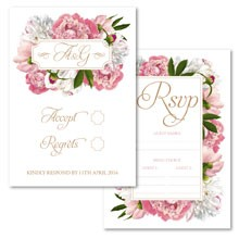 Personalised RSVP Cards - Peony