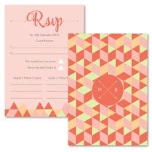 Personalised RSVP Cards - Geo Love