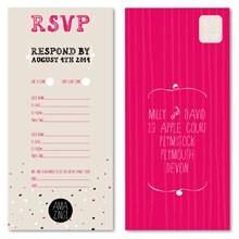 Personalised RSVP Cards - AMAZING!