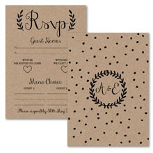 Personalised RSVP Cards - Rustic Charm