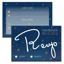 Personalised RSVP Cards - Written in the Stars