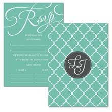Personalised RSVP Cards - Tiffany Charm