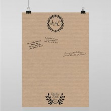 Personalised Guest Sign Poster - Rustic Charm