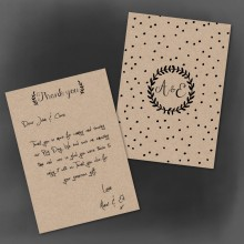 Personalised Thank You Notes - Rustic Charm