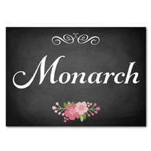 Personalised Table Name - Chalkboard Blossom