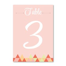 Geo Love Table Number