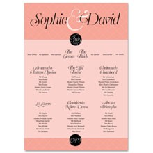 Personalised Wedding Table Plan Sizes: A1, A2, A3 - Coco