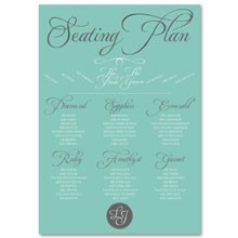 Personalised Wedding Table Plan Sizes: A1, A2, A3 - Tiffany Charm