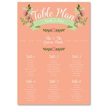 Personalised Wedding Table Plan Sizes: A1, A2, A3 - Love, Laughter...