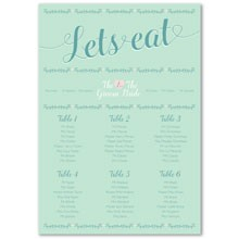 Personalised Wedding Table Plan Sizes: A1, A2, A3 - Southern Belle