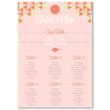 Personalised Wedding Table Plan Sizes: A1, A2, A3 - Geo Love