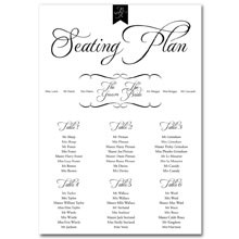 Personalised Wedding Table Plan Sizes: A1, A2 - Pure Love