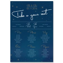 Personalised Wedding Table Plan Sizes: A1, A2 - Written in the Stars