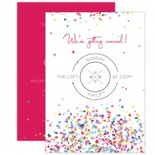 Personalised Wedding Invitations - Confetti