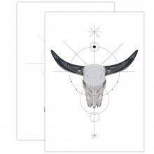 Personalised Wedding Invitations - Geo Skull
