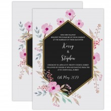 Personalised Wedding Invitations - Geometrical Floral