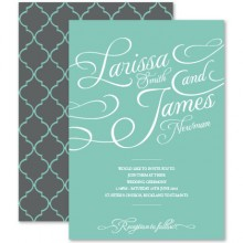Personalised Wedding Invitations - Tiffany Charm