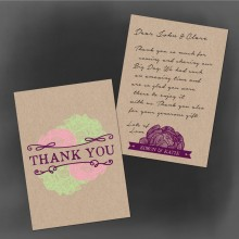 woodland thank you note