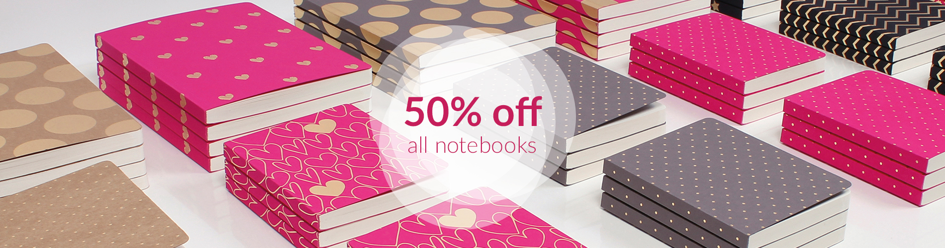 50 off notebooks