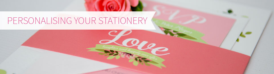 Perosnlising your stationery