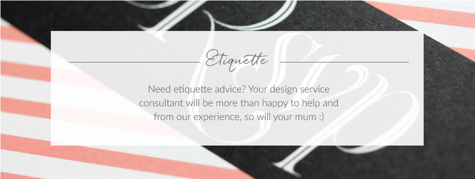 Wedding Stationery Etiquette
